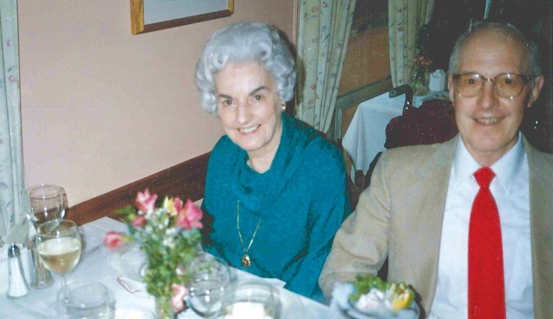 Fred Town with his friend May James.